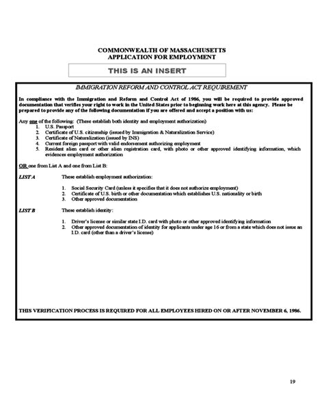 Career Point Ma Application Application For Employment Commonwealth Of Massachusetts
