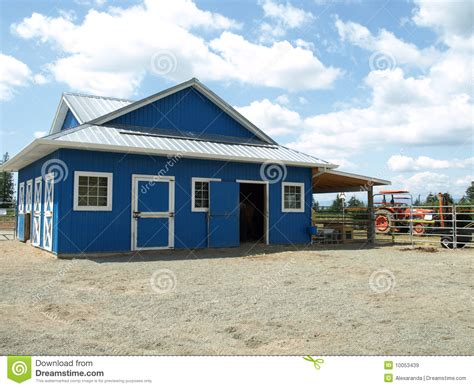 Blue Barn Produce blue barn in a farm royalty free stock images image