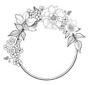 Halo Wall Stickers best 25 flower outline ideas on pinterest tattoo