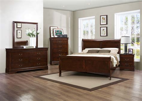 espresso bedroom set louis philip espresso 4 piece full bedroom set andrew s