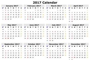 1 page 2017 calendar calendar 2017 printable