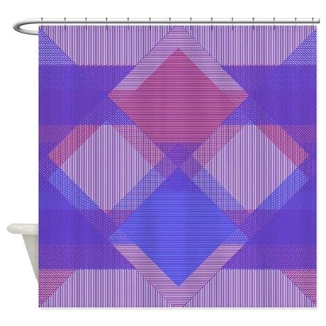 Black Blue Cross Hatch and blue cross hatch op shower curtain by masterpieces1