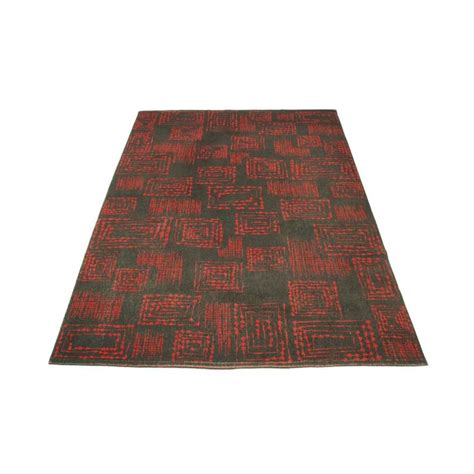 1950s rug styles 1950s and grey geometric abstract wool rug for sale at