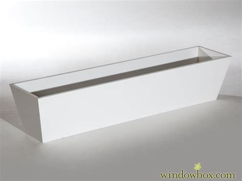 tapered pvc window box liners white window box liners