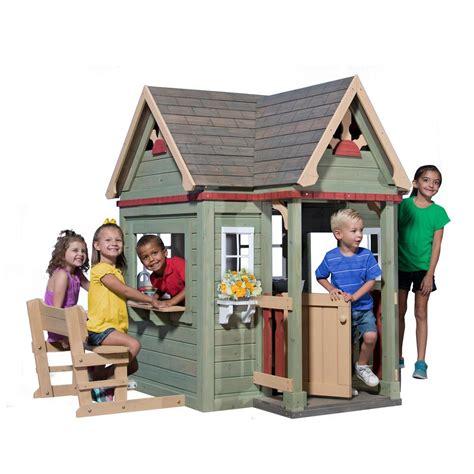 backyard cedar playhouse backyard discovery scenic heights cedar playhouse