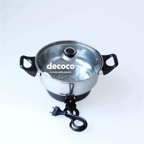 Panci Listrik Serbaguna q2 panci listrik 8022 22cm decoco