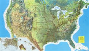 Maps Of Usa With States by Rand Mcnally Raised Relief Map Of The United States