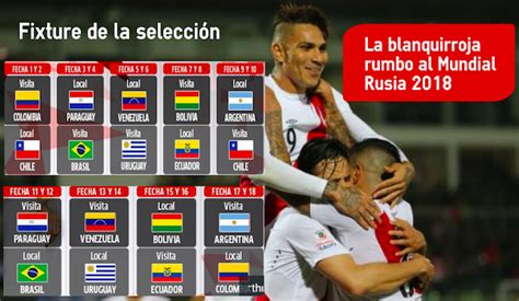 Calendario Colombia Eliminatorias Rusia 2018 Conmebol Post La Selecci 243 N Peruana Debuta En Las Eliminatorias A