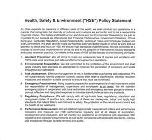 Health Safety Statement Template by Sle Safety Statement Template 9 Free Documents In Pdf