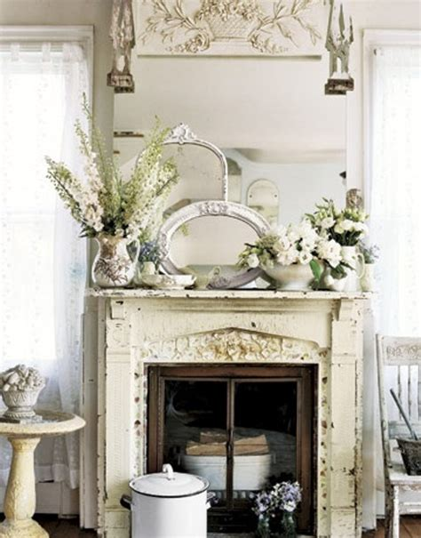 shabby chic fireplaces four fireplace mantel decorating ideas home decorating
