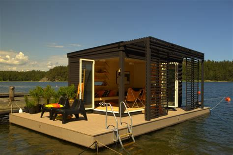 Tiny House Cabin a tiny modern floating cabin powered by photovoltaic s