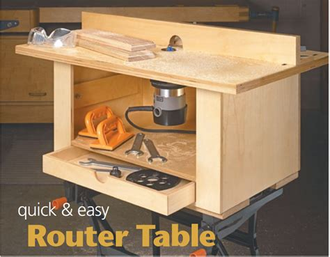 simple router table plans quick and easy router table from woodsmith pinteres