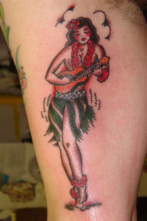 hula girl tattoo 15 pin up tattoos creativefan