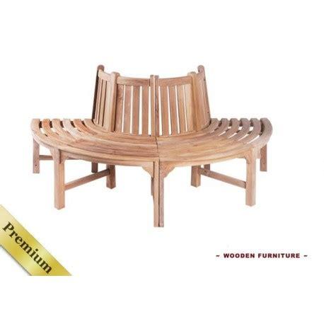 half round bench half round teak tree garden bench