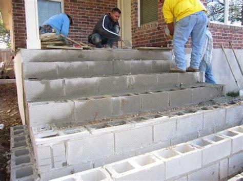 making steps  cinder blocks ideas