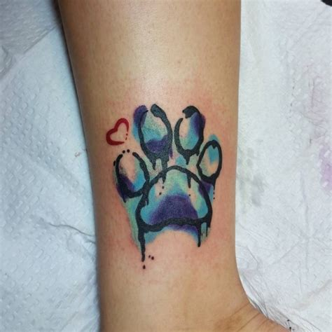 watercolor tattoo paw 90 best paw print meanings and designs