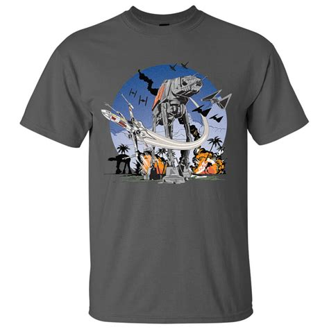 cgv star wars merchandise star wars rogue one men s at at battle t shirt grey