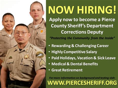 michigan department of corrections recruitment section pierce county wa official website jobs join our team