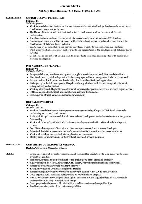 senior java developer resume sle indeed drupal developer resume sle 28 images drupal developer resume sle annecarolynbird