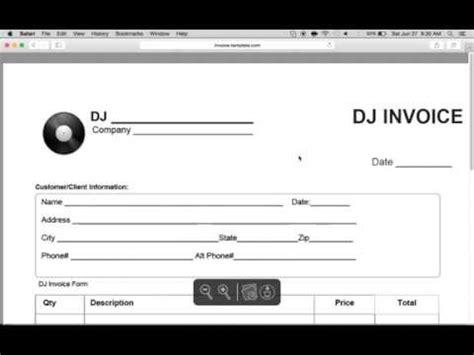 Dj Invoice Template Invoice Exle Dj Invoice Template Pdf