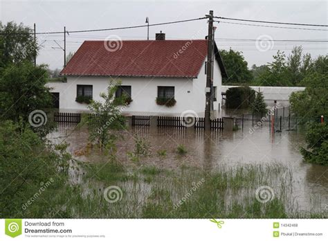 flooded house flooded house royalty free stock photos image 14342468