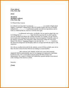 Medical Letter Of Recommendation Template How To Write A Recommendation Letter For A Student For
