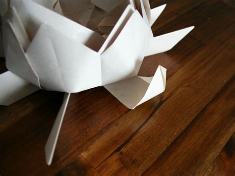 How To Make Floating Paper Lanterns - how to make a floating lotus paper lantern