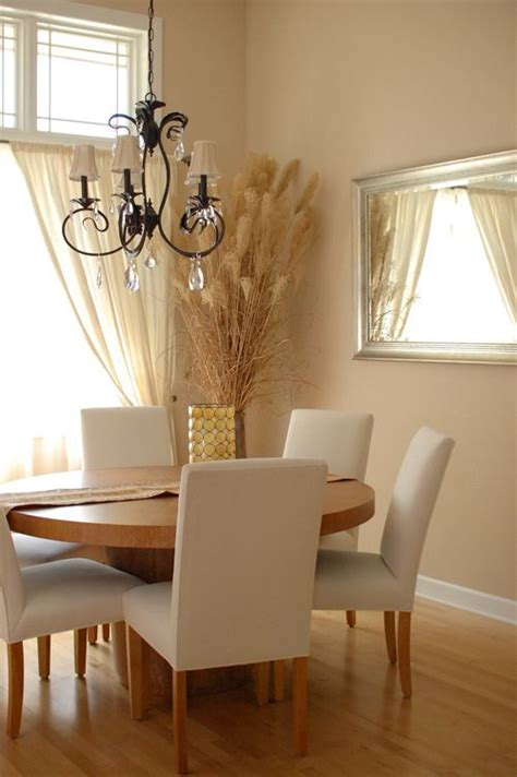 dining room  sherwin williams sand dollar  ivory
