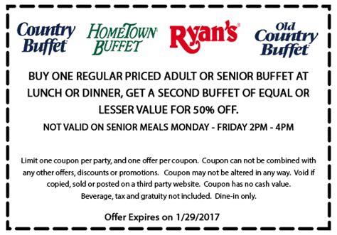 buffet coupon ryans coupon 2017 mega deals and coupons