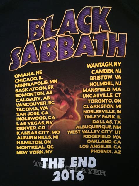 T Shirt 2016 powerage5 s black sabbath black sabbath the end 2016