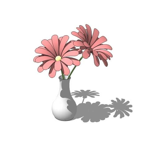 Sketchup Vase by Flowers In Vase Sketchup Block Cadblocksfree Cad Blocks
