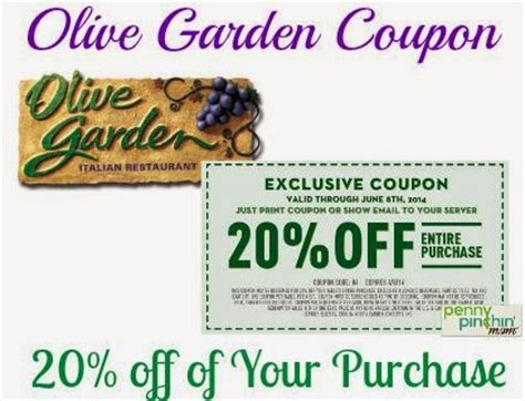 olive garden coupons with barcode olive gardens new coupon printable coupons online