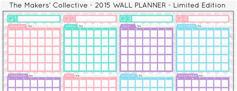 free printable wall planner 2015 australia 2015 a2 wall planner for creatives pre order now