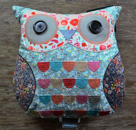 Cynthia Rowley Pillows by Cynthia Rowley Embroidered Patchwork Owl Pillow J Brulee