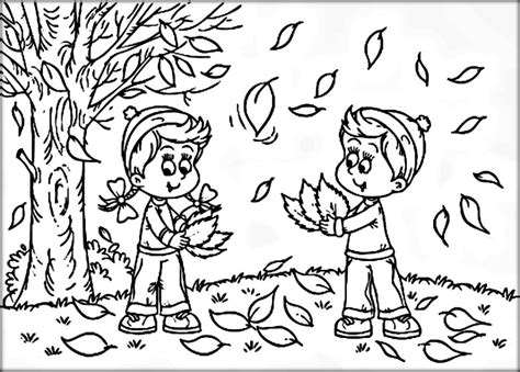autumn coloring pages color zini