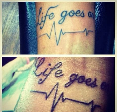 tattoo meaning life goes on sibling tattoos tattoo just the words tattoos