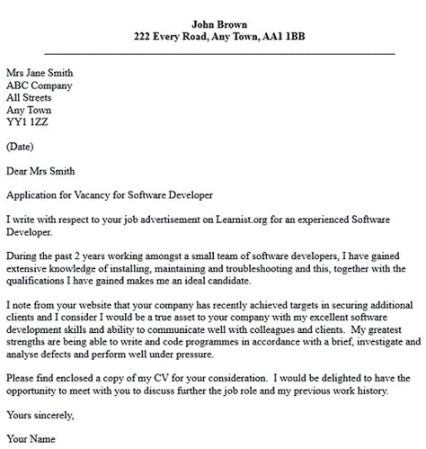 Firewall Administrator Cover Letter by Sle Cover Letter For Net Developer Cover Letter