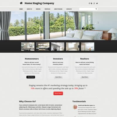 Home Staging Templates Templatemonster Home Staging Brochure Template