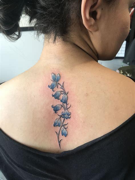 bluebell tattoo designs bluebell back spine instagram scarlss1