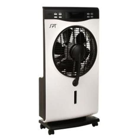 misting fan home depot spt 12 in indoor misting portable fan sf 1515w the home
