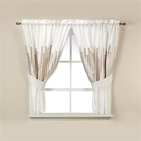 kenneth cole curtains kenneth cole reaction home frost bath window curtain tier