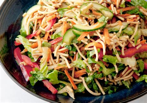 noodle salad recipes crunchy noodle salad low fodmap