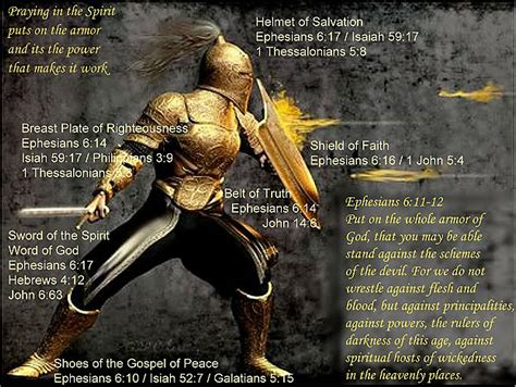 put on the full armor of god nightwatch