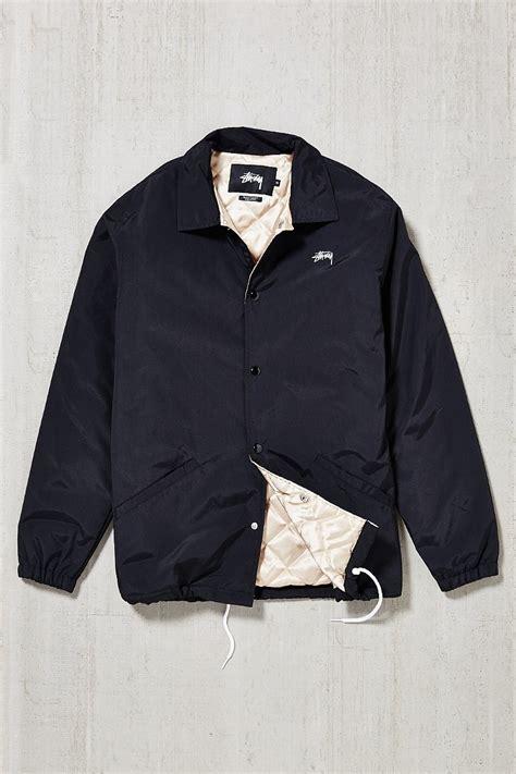 Jacket Stussy Hoodie 9 lyst stussy logo detail casual jacket in black for
