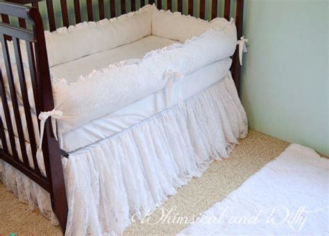lace crib bedding white lace baby crib bedding white from whimsicalandwitty on