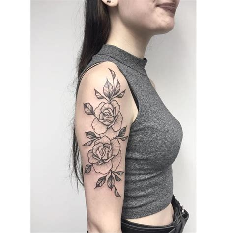 rose outline tattoo on shoulder tattoos designs for and