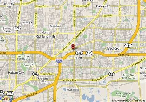 where is hurst texas on map of texas map of inn express hotel suites west hurst dfw airport hurst