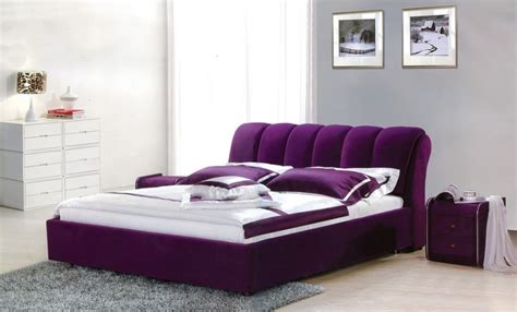 purple design bedroom purple velvet bed frame for glamorous modern bedroom