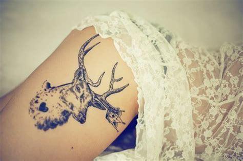 deer tattoo on