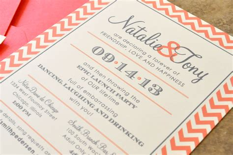 custom graphic design wedding invitations wedding invitations square pattern orange borders black